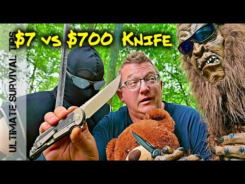 Bigfoot / Knife Ninja and the $700 Samurai Folder - $7 vs. $700 Blade - Best Pocket Knife?