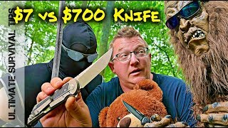 vs. $700 Folding Knife - Can this Samurai Folding Pocket Knife Keep...