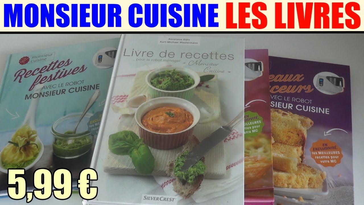 livres de recettes monsieur cuisine silvercrest lidl robot menager de cuisson