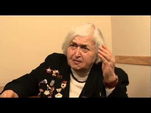 Interview With Ida Segal Regarding Her Service In The Red Army During World War II: