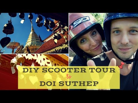 Scooter Tour to Doi Suthep temple from Chiang Mai, Thailand