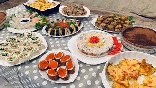 ПРАЗДНИЧНЫЙ СТОЛ! Готовлю 10 блюд!Горячее, салаты, закуски, торт! Праздничное меню на Новый Год 2020