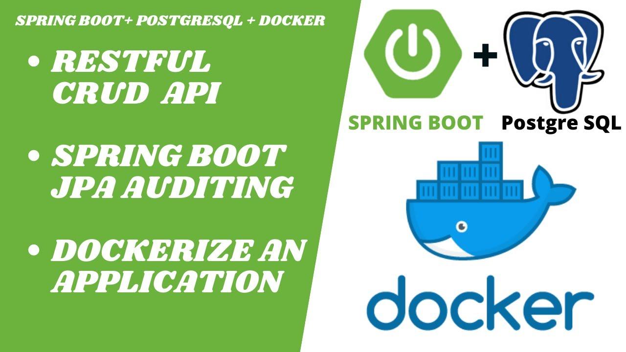 Spring Boot with PostgreSQL and Docker Compose | RESTful CRUD API Example