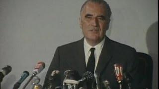 Elections présidentielles : déclaration de Georges Pompidou