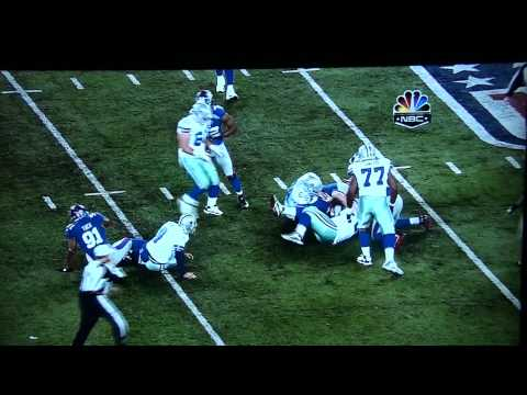 Tony Romo Crushed by Justin Tuck