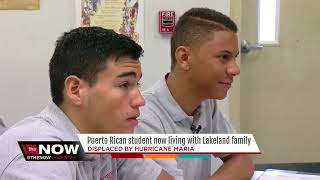 Lakeland family takes in Puerto Rican HS student