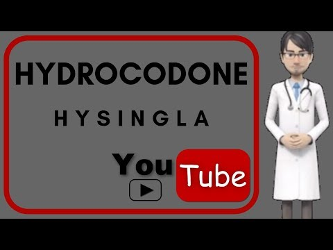 💊HYDROCODONE (HYSINGLA): What Is Hydrocodone Used For, Side Effects, Mechanism Of Action , Dosage💊