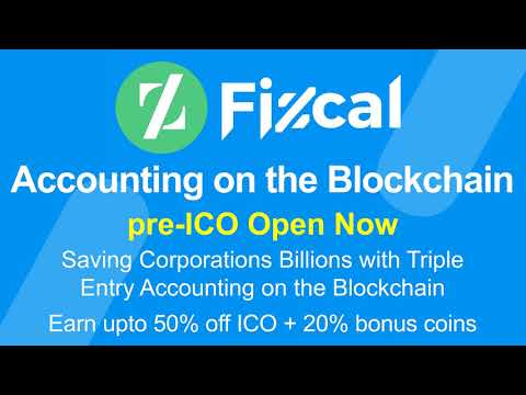 Fizcal - Pre ICO Live - Accounting on the Blockchain