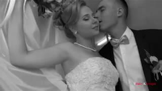 Свадебный клип черно-белый