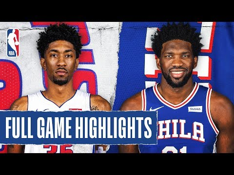 PISTONS At 76ERS | FULL GAME HIGHLIGHTS | March 11, 2020