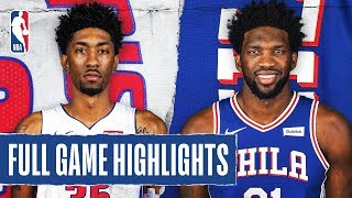 Gambar cover PISTONS at 76ERS | FULL GAME HIGHLIGHTS | March 11, 2020