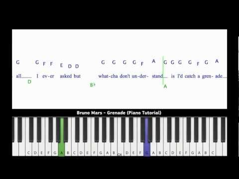 Bruno Mars - Grenade (Piano Tutorial) [Easy Version]