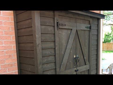 Making a storage shed | Garden shed | Garbage shed | DIY shed