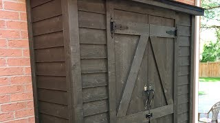 Making a storage shed | Garden shed | Garbage shed | DIY shed