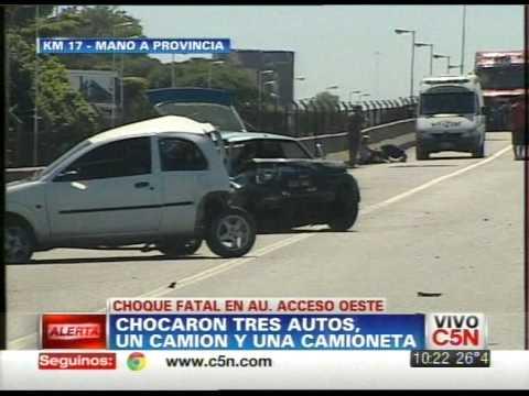 C5n tr nsito choque en acceso oeste doovi for Benetton quedara autopista panamericana acceso oeste