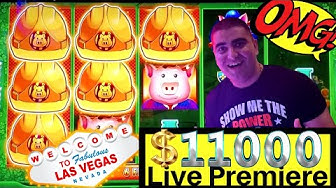 $11,0000 Live Slot Play !  Up To $100 A Spin High Limit Slot Play & Handpay Jackpot On Thunder Cash