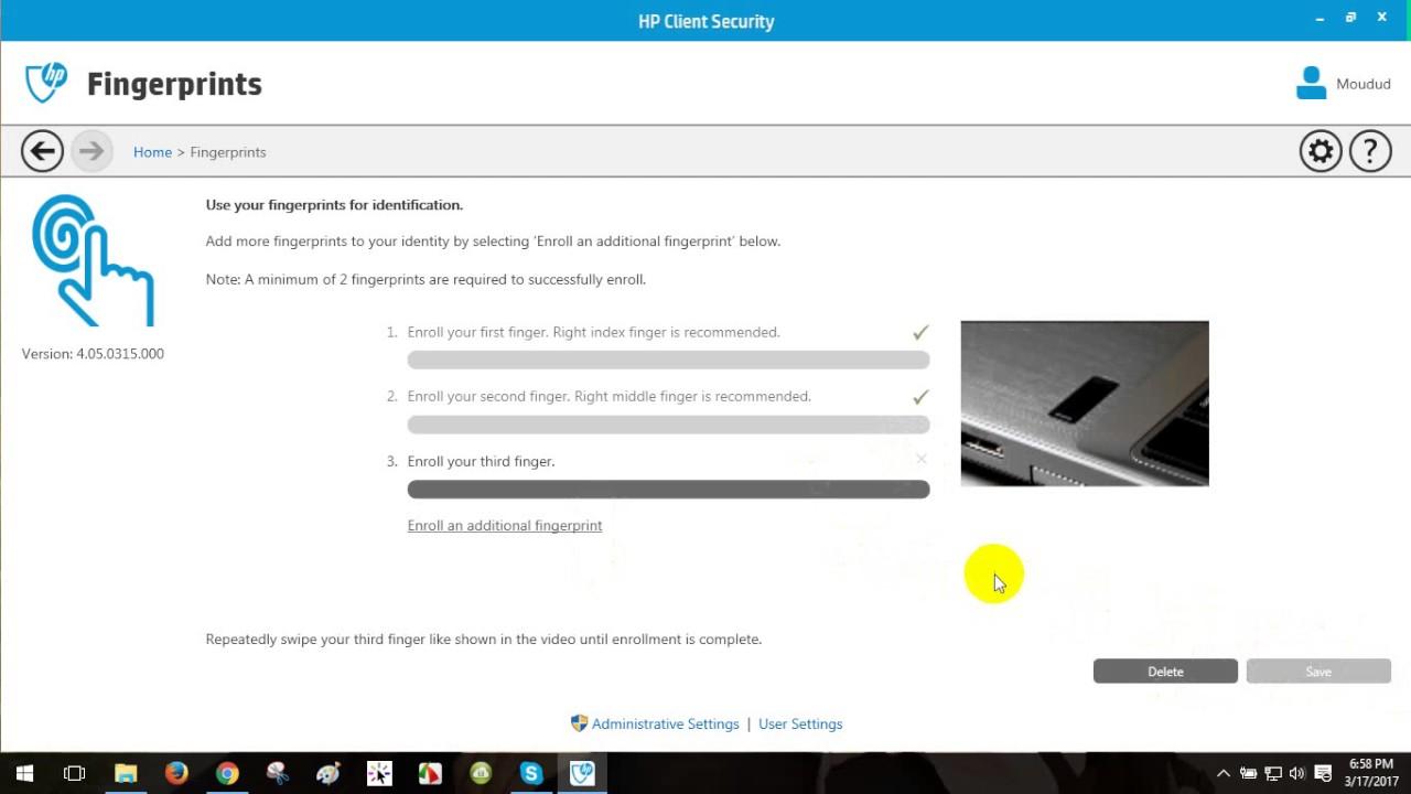 How to Enroll fingerprint for HP laptop