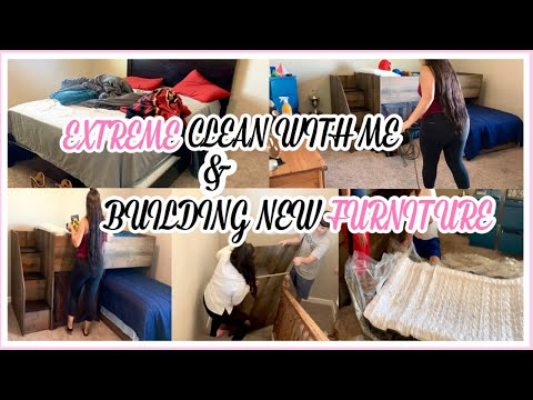 EXTREME CLEAN WITH  ME -BUILDING NEW FURNITURE