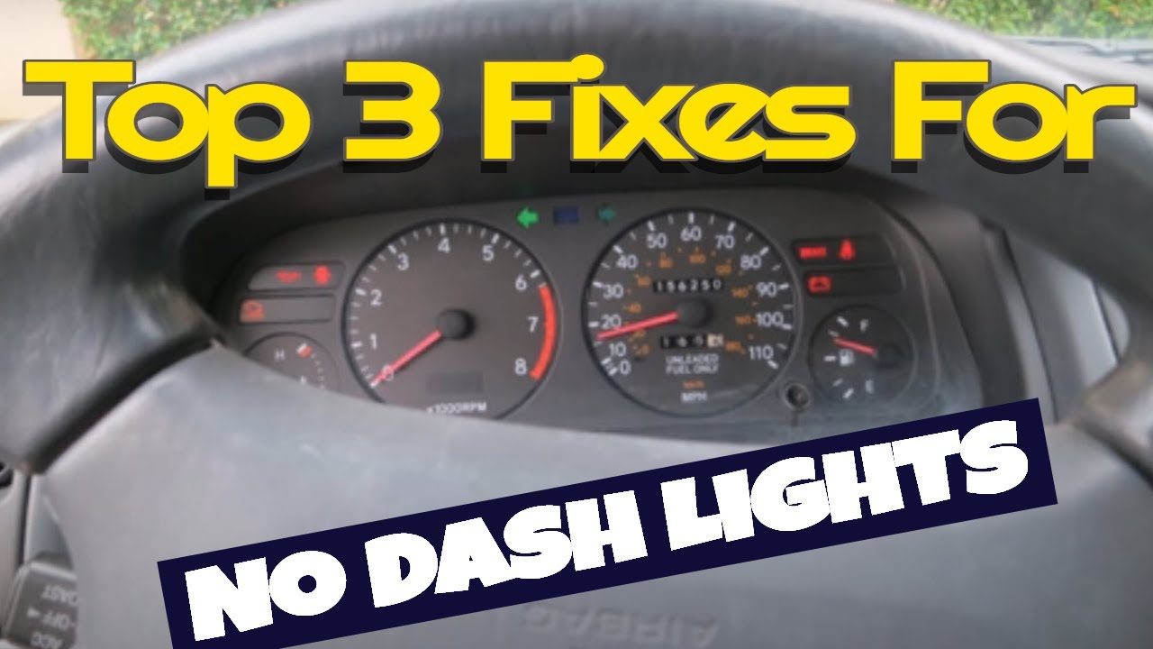 no light in car dash? top 4 things you can do to fix diy