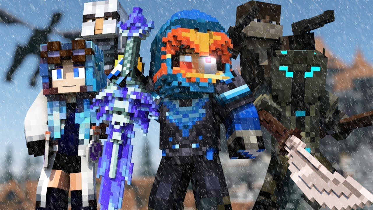 Fire And Ice Girl Minecraft Skin