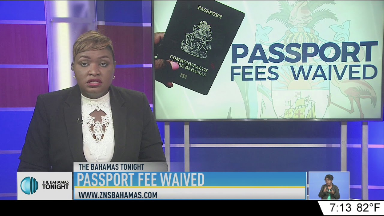 PASSPORT FEE WAIVED For Bahamaian Hurricane Victims.