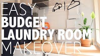 Easy Budget Laundry Room Makover