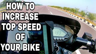 How to increase Top Speed of your bike Feat. AYUSH VERMA