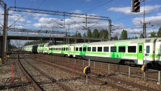 [VR] delayed InterCity nr. 55 from Helsinki to Oulu departs Riihimäki station.