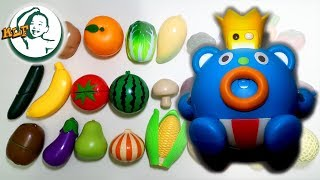 Learn names of fruits and vegetables with a talking toy