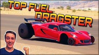 Insane TOP FUEL DRAGSTER   Forza Horizon 3 Dev Mods   Crazy Acceleration!