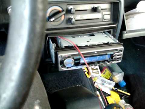 AUX in on a Kenwood KDC-205 that did not have AUX IN before - YouTube