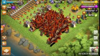 687 villagers and dragons attacking.clash of clans PRIVATE SERVER