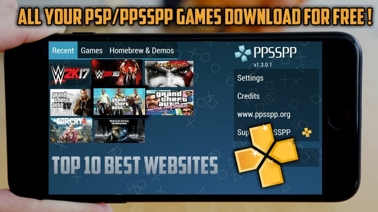 Top 10 Best Websites to download PSP/PPSSPP Games for free ...