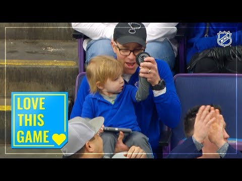 Blues Fans Show The Love By Gifting Souvenir Puck To Young Boy