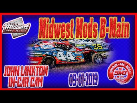 S03➜E445 John Lankton Midwest Mod B-Main - Monett Motor Speedway 09-01-2019