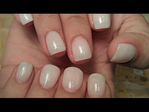 How To Soft White Natural Nude Acrylic Nails Tutorials Super Nail