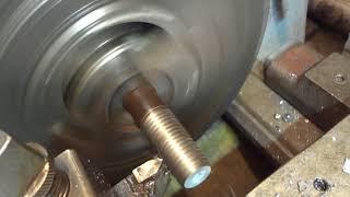 Конусная резьба учусь резать на токарном станке 1К62.