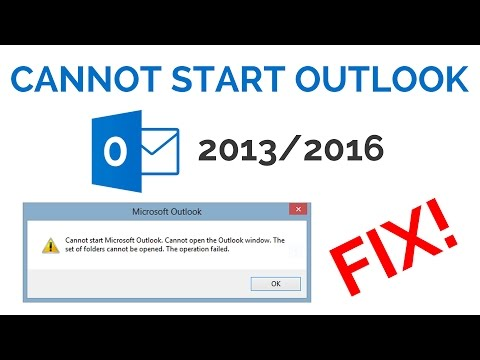 How to Fix Outlook 2016 Error Cannot Start Microsoft Outlook Cannot