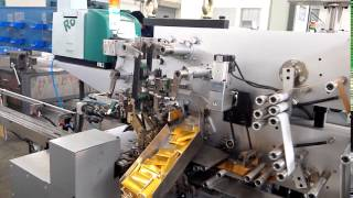 chocolate and candy folding wrapping machine with double layer