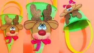 Dulcero Navideño paso a paso - Craft DIY manualidad navidad en foamy/goma eva/microporoso