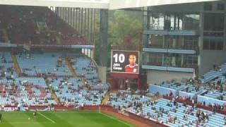 Aston Villa team on the screen
