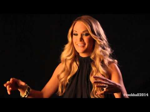 Carrie Underwood backstage interview at the 2014 Rock and Roll Hall of Fame Inductions