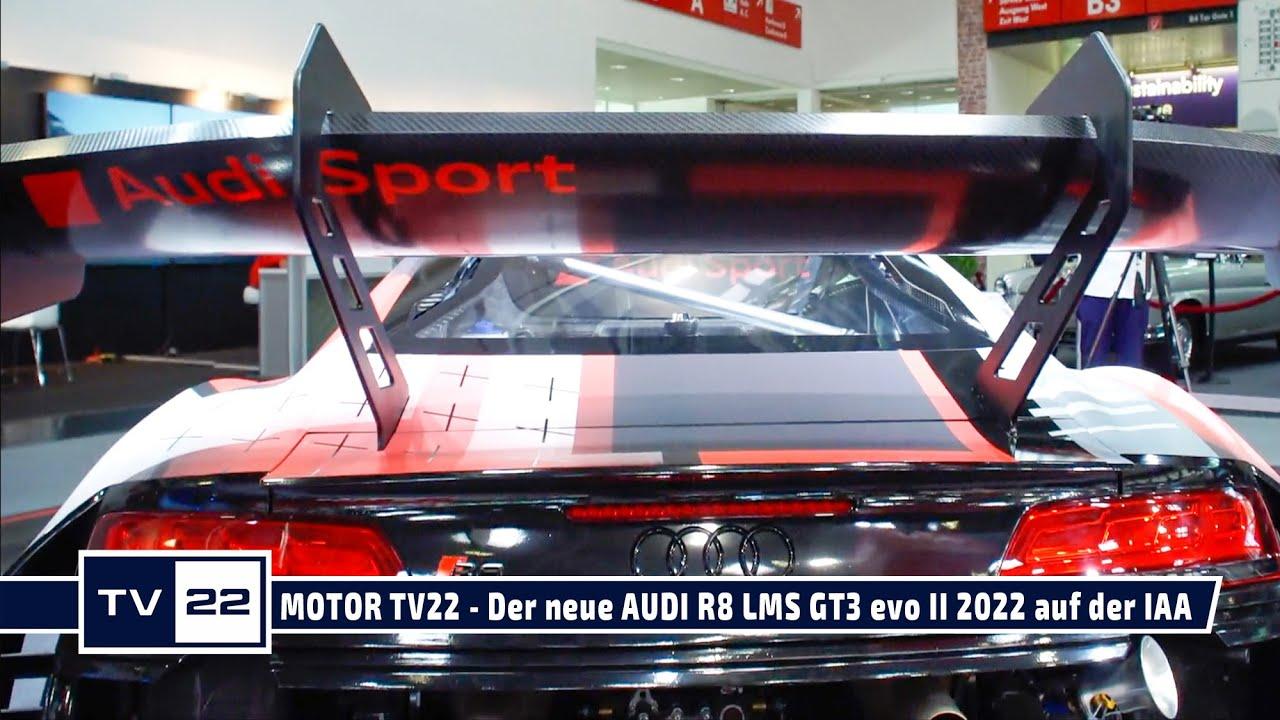 Der neue Audi R8 LMS GT3 evo II (2022) auf der IAA Mobility in München 2021 - MOTOR TV22