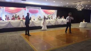 Bride rapping at her reception