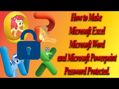 #MicrosoftOffice How to Protect a Microsoft Excel 2016 Workbook and a Word Document With Password. thumbnail