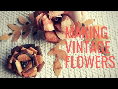 DIY    How To Make Vintage Flowers With Paper    Crafts Life