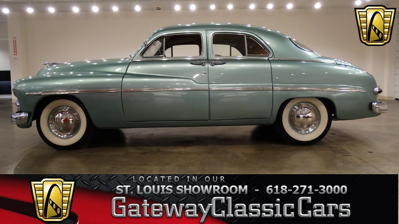 1950 mercury 4 door sport sedan gateway classic cars st for 1950 mercury 4 door sedan