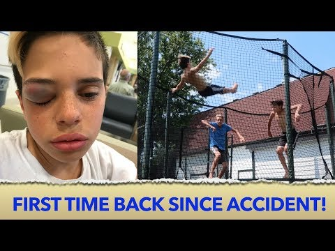 TRAMPOLINE ACCIDENT 🤕  Christian Lalama
