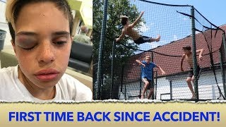 TRAMPOLINE ACCIDENT! 🤕 | Christian Lalama