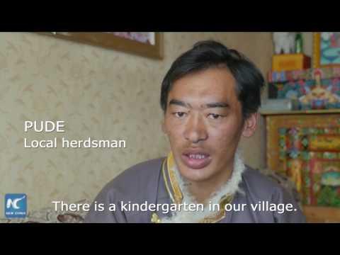 Tibetan nomads settle for modern life